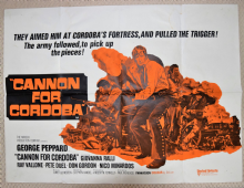 Cannon for Cordoba, UK Quad Poster, George Peppard, Raf Vallone, '70
